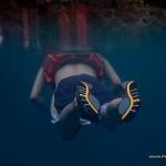 Swimming around Kayangan Lake