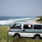 Our van parked somewhere in Ivana where the Pacific Ocean meets the South China Sea