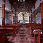 Inside San Carlos Borromeo Church in Mahatao