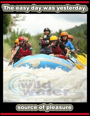 Davao Wildwater Adventure Ad with the Blue Eagols
