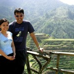 Our ever dearest Project Manager and his wife at the Banaue Rice Terraces