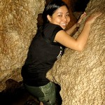 Going through the tiny holes - Sumaging Cave in Sagada