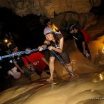 Rapelling at Sumaging Cave in Sagada