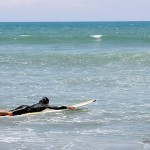 Surfing in Baler, Aurora