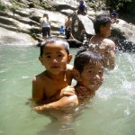 Kids swimming at Bomod-Ok Falls