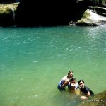 Enjoying the cold waters of Bomod-Ok Falls