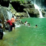 Swimming at Bomod-Ok Falls